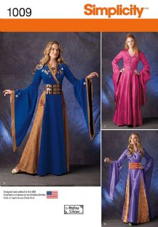 1009 Simplicity Pattern: Misses' Fantasy Costumes